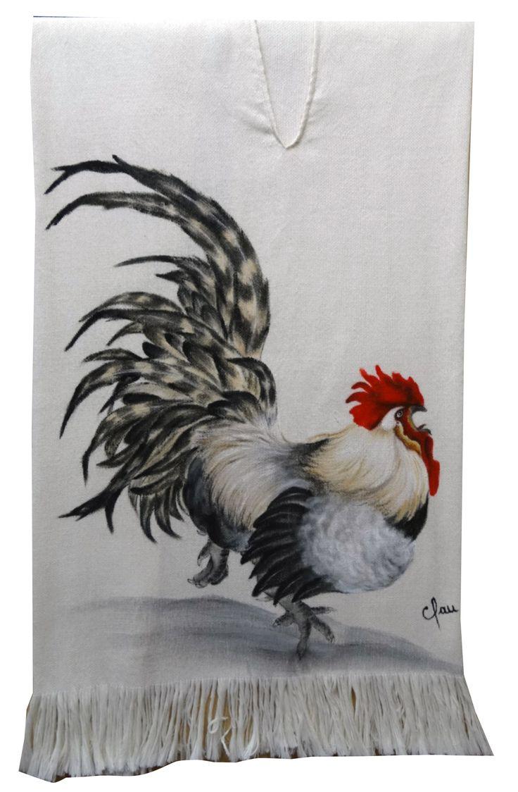 Poncho pintado a mano / painted by hand Gallo pintado