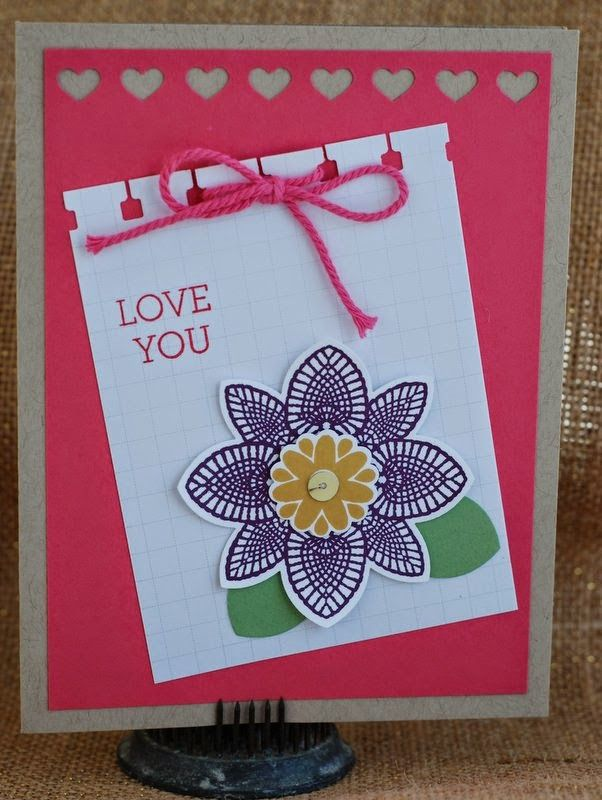 """Laura Milligan, Stampin' Up! Demonstrator - I'd Rather """"Bee"""" Stampin!: SU - Petal Potpourri, Crazy about You"""