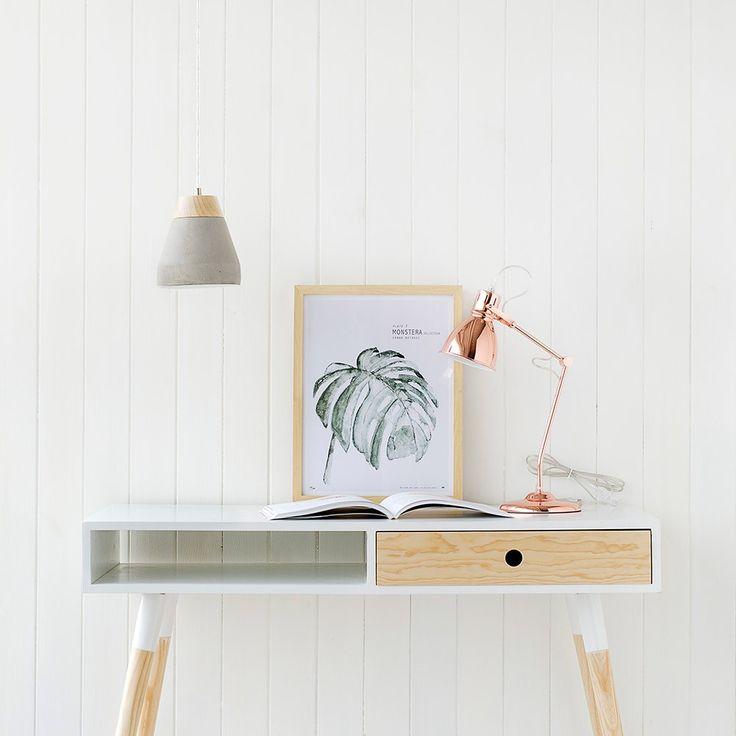 Escritorios elegantes y prácticos perfectos para habitaciones de estilo nórdico y con un aire minimalista - Minimoi