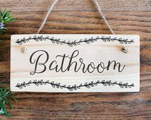 For Bathroom Door Sign On Etsy The Place To Express Your Creativity Through Ing And Of Handmade Vintage Goods