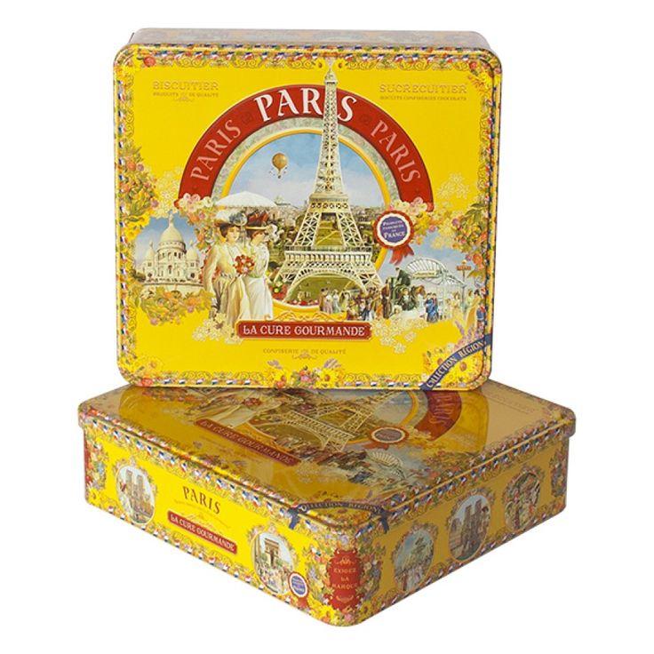 Boîte à biscuits Carrée en Métal – Achat en ligne | Collection Paris