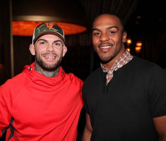 UFC Champ Cody Garbrandt with former NFL Player Dante Hughes at Andiamo Las Vegas