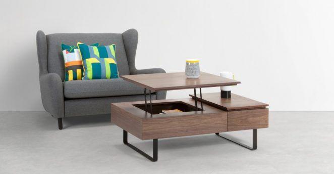 15 Tables Basses Gain De Place Pratiques Pour Optimiser Un Petit Espace En 2020 Table Basse Table De Salon Table A Rabat