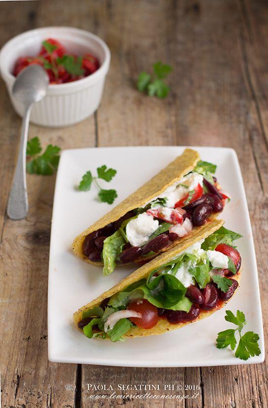 tacos vegetariani con fagioli rossi
