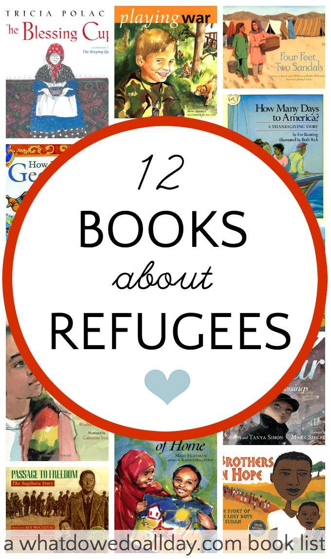 Picture books and biographies about refugees. Teach kids compassion and how to help others.