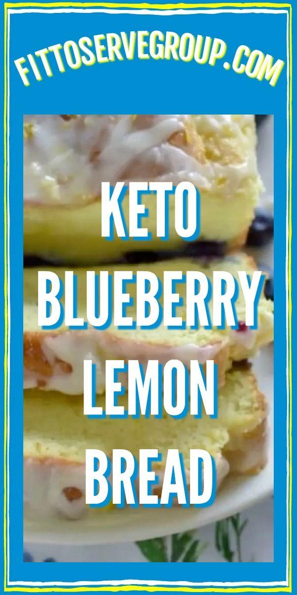 Keto-Blaubeerzitronenbrot