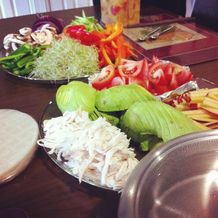 DIY homemade Vietnamese rolls