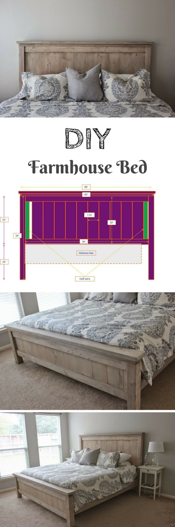 Check out how to build a DIY farmhouse bed @istandarddesign by rowena