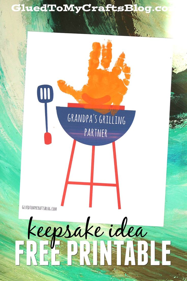 best images about father s day fun sunday school grandpa s grilling partner handprint printable
