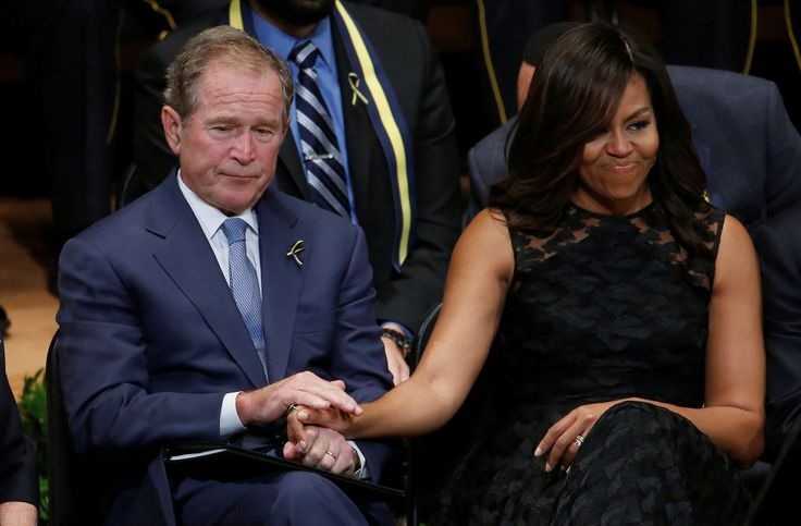George W. Bush on relationship with Michelle Obama: 'We just took to each other'