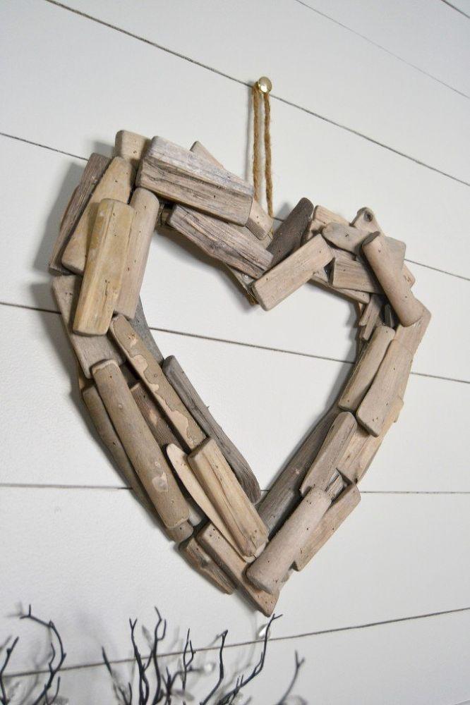 DIY Driftwood Heart Wreath