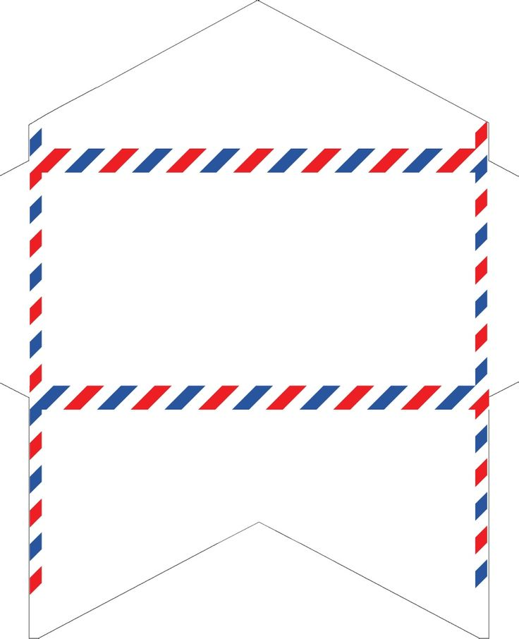 Old-Fashioned Correspondence: Airmail envelopes free printable.