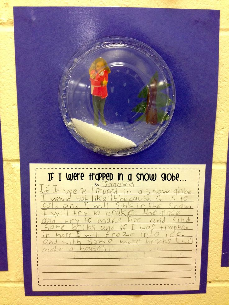 If I Lived In A Snowglobe -- FREE Writing Activity...