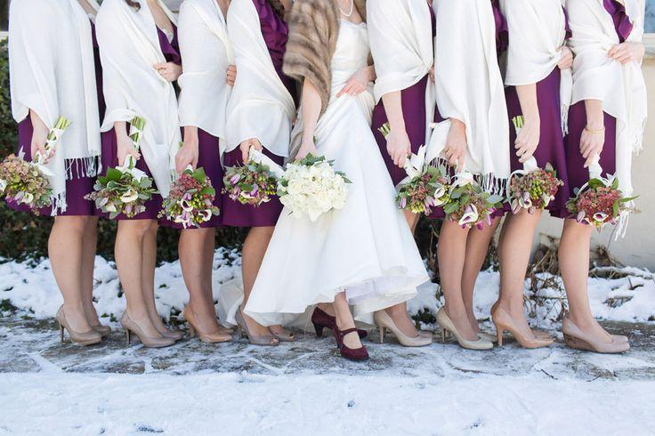Classic purple bridesmaids