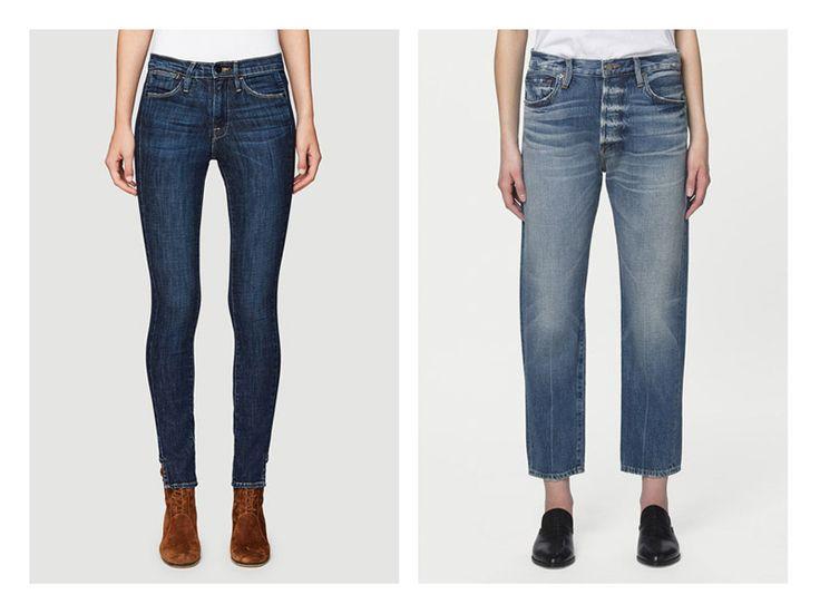 Обтягивающие и свободные джинсы на очень стройной девушке