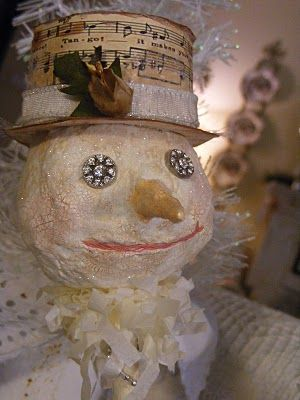 how to make a paper mache snowman