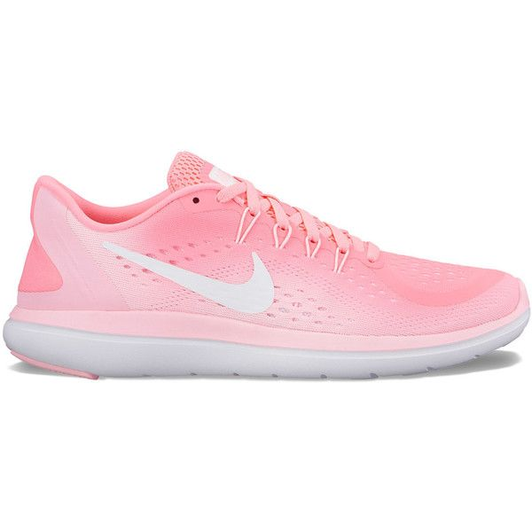 Nike Flex 2017 RN Women's Running Shoes ($70) ❤ liked on Polyvore featuring shoes, athletic shoes, dark red, laced shoes, mesh running shoes, laced up shoes, nike footwear and athletic running shoes