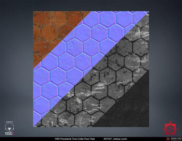 ArtStation - PBR Terra Cotta Floor Material Study, Joshua Lynch
