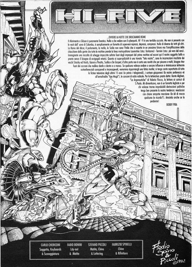 Hi-Five  (pagina di presentazione di Bobby Perù) Katzyvari. The Real Number One of Katzyvari - Anno 1 gennaio/febbraio 1993 Bimestrale. pag 17 Immagine di Fabio Bonini, Stefano Piccoli e Fabrizio Spinelli