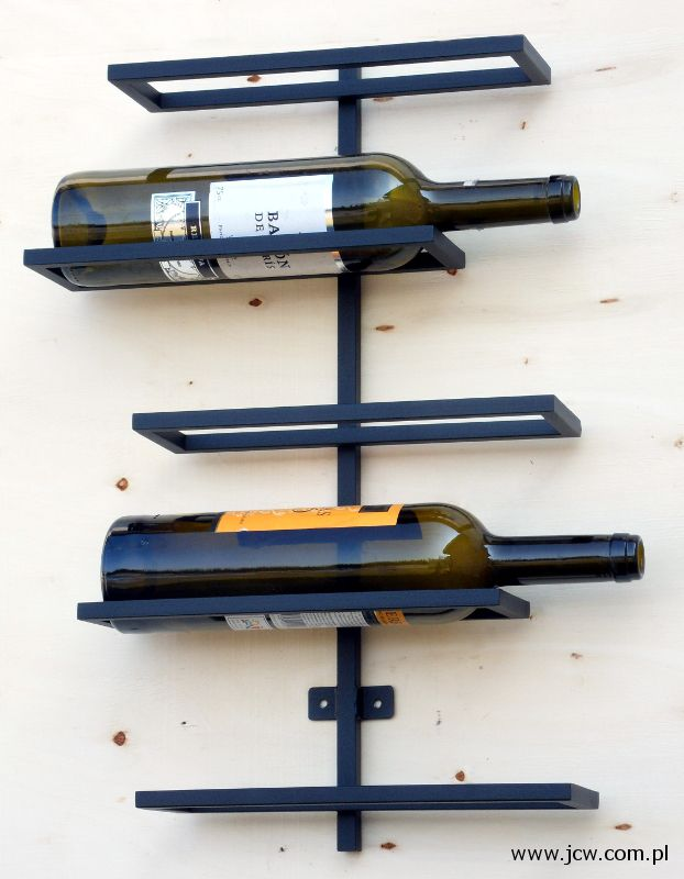 Wine rack material: steel powder paint, matt black structure www.jcw.com.pl