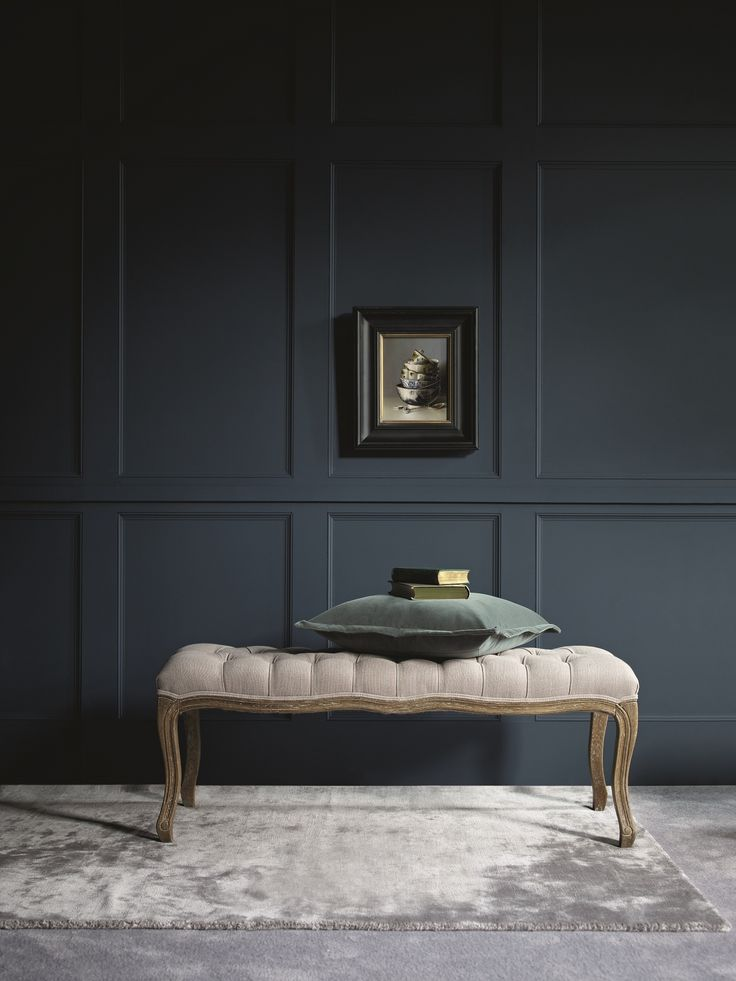 Really drawn to this image. Love the silvery tones and have a thing about ottomans!