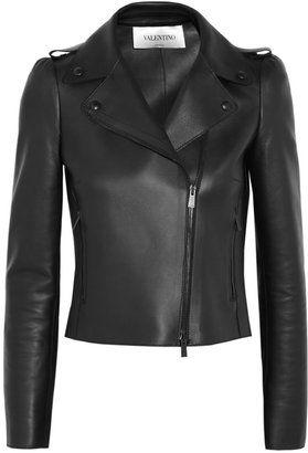 Кожаная куртка-косуха с вышивкой