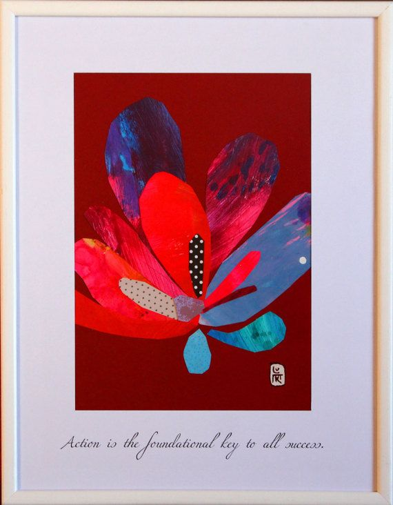 Picture Collage Art of Flower with a Positive Quote (#010)