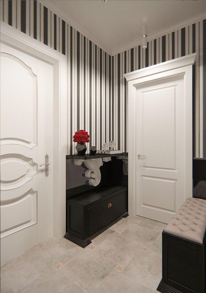 Коридор. Дизайн интерьера квартиры в современном классическом стиле, г. Пушкин