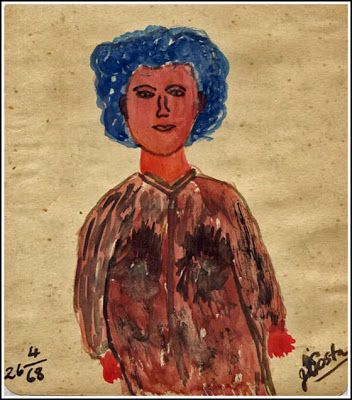 A city girl, painted in 1968