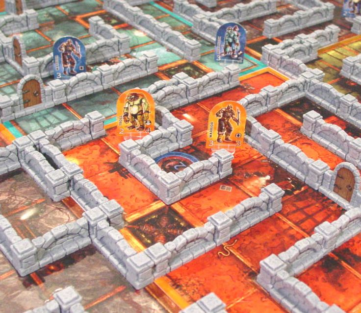 How to build a Dungeon Twister game board