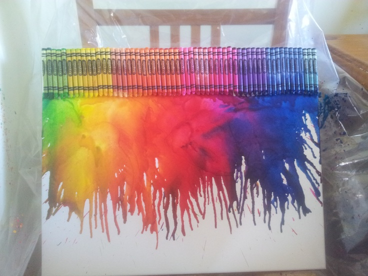 Melted Crayon Art Canvas I made today for master 6's bedroom!  http://www.facebook.com/photo.php?fbid=301113383320164=a.301113016653534.61288.230569820374521=1