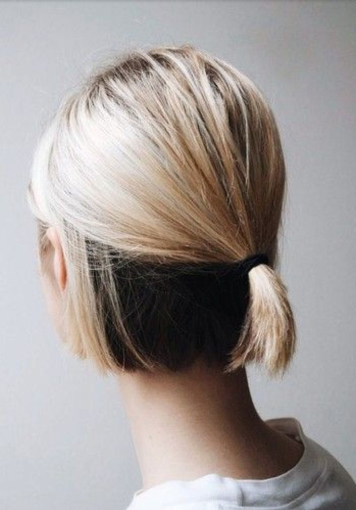 pferdeschwanz bei kurzen haaren - moderne frisuren