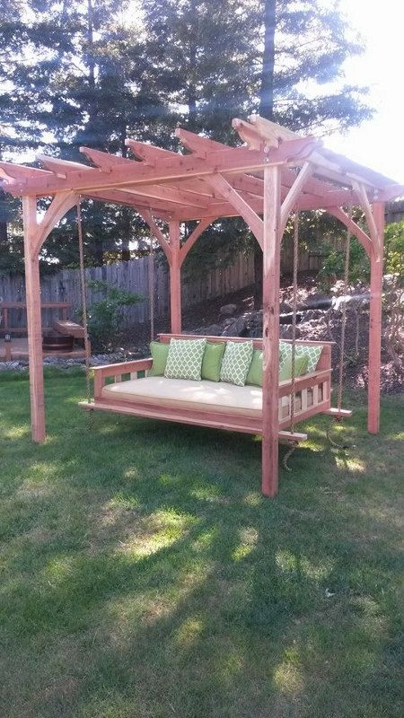Swinging Day Bed Pergola Combo