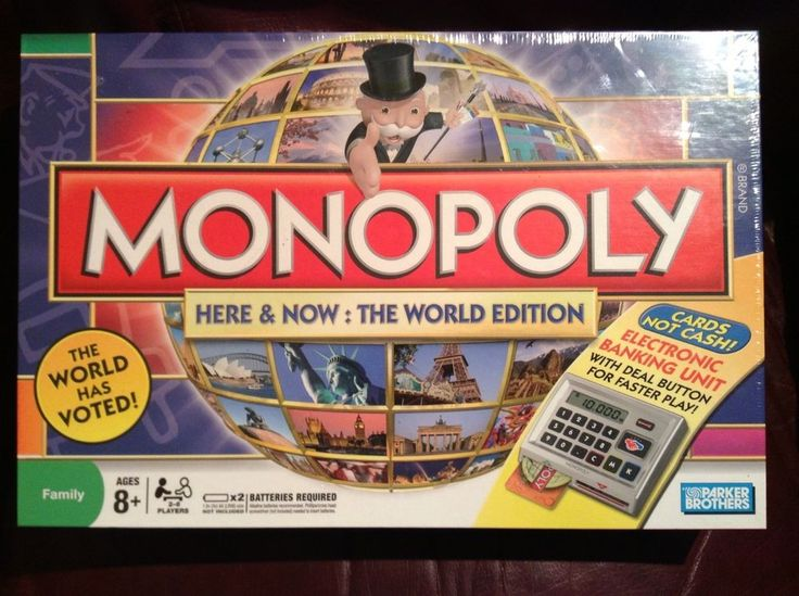Hasbro - 01612 Monopoly HERE and NOW World Edition ELECTRONIC Mystery Pawns 2008 #Hasbro