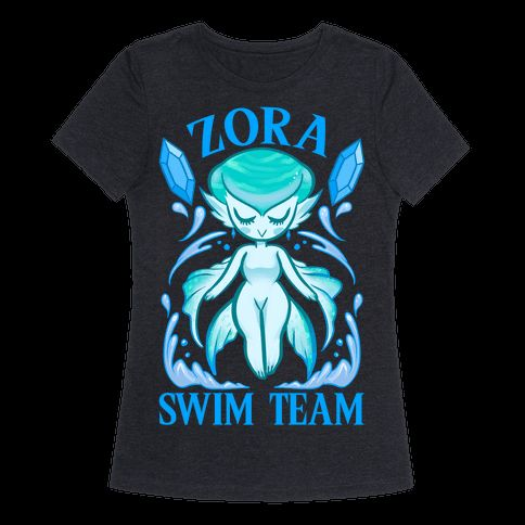 With a nerd fitness shirt like this you'll be ready for the Zora Swim Team with Princess Ruto, and what a cute chibi Princess Ruto she is. This zelda shirt is perfect for fans of nerd fitness, workout shirts, legend of zelda and fitness jokes. | HUMAN