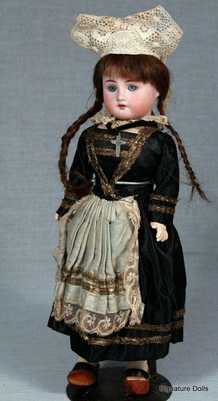 French Bisque Child in Original Breton Costume