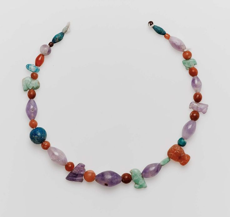 String of beads and amulets. Egyptian, Middle Kingdom, 2061-1640 B.C.