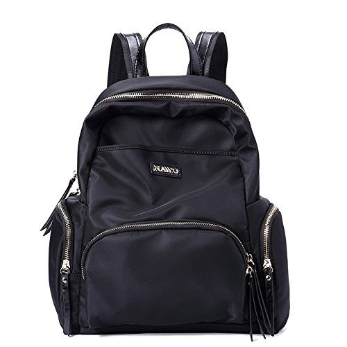 714473e409 NAWO Women s Backpack Casual Daypack Handbags School Fabric Bag Black