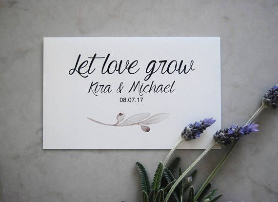 Let Love Grow Favors | 50 Pack Wedding Favours | Wedding Seed Packets | Let Love Grow Seeds | Seed Packet Envelope | Wildflower Seed Favours