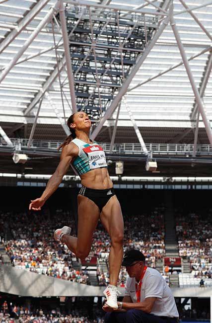 ジェシカ・エニス(英国) 七種競技、走り幅跳…:跳躍のビーナスたち 写真特集 - リオ五輪・パラリンピック 2016:時事ドットコム