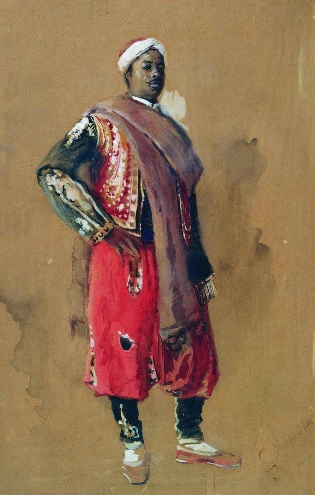 Konstantin Makovsky (Russian, 1839-1915)  'Moor'