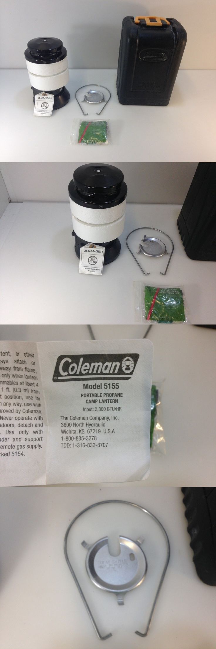Lanterns 168867: Coleman Propane Lantern Model 5155 With Hard Plastic Case -> BUY IT NOW ONLY: $34.19 on eBay!