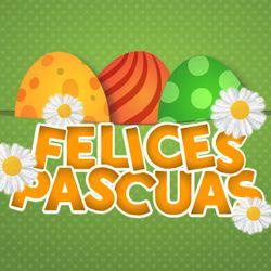 Felices Pascuas con huevos http://dostarjetas.com/tarjetas-de-pascua/felices-pascuas-713.html