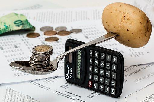 Coins, Calculator, Budget