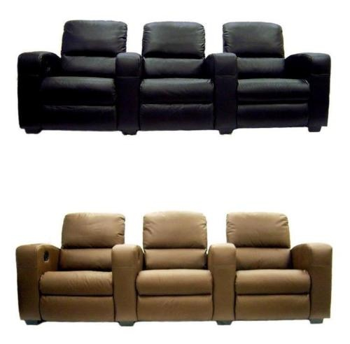 Movie Home Theater Seats Leather Recliners 3 Chairs 2 Wedges Cyrus Home Th