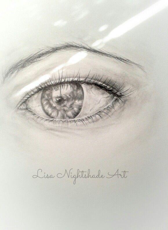 Photorealistic eye drawing