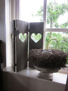 Window screen with hearts - Country-style