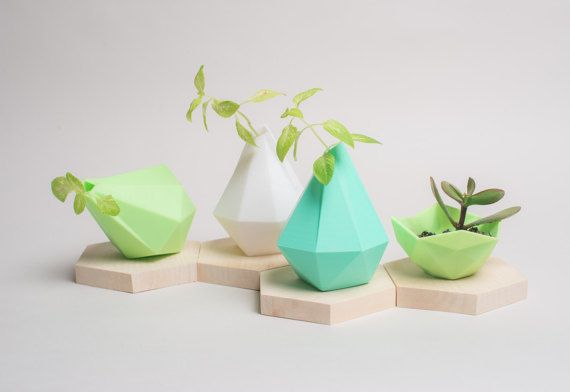 3D Printed Vase, Planter, modern, minimalism, Low poly, Geometrical Vase, home decor, Best Gift, Wedding