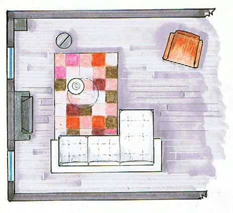 very simple floor plan rendering