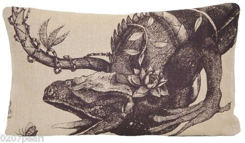 Timorous Beasties Iguana Printed Linen Fabric